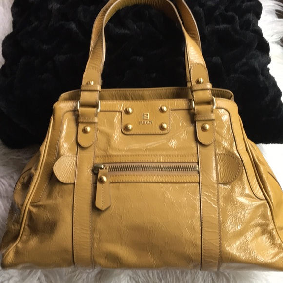 38ca35a0f95b Fendi Handbags - Fendi De Jour Patent Leather Tote